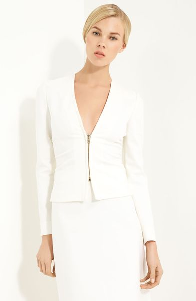 Valentino Zip Front Jacket in White (red) - Lyst