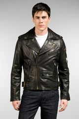 William Rast Leather Moto Jacket - Lyst