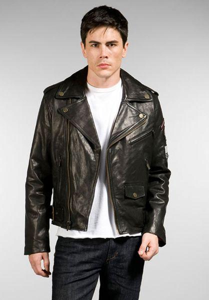 William rast leather jacket