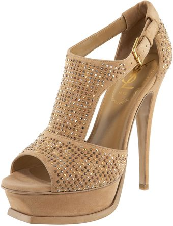 Yves Saint Laurent Tribute Studded T-strap Sandal - Lyst