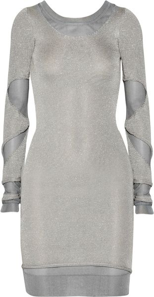 Zac Posen Cutout Metallic Sweater Dress - Lyst
