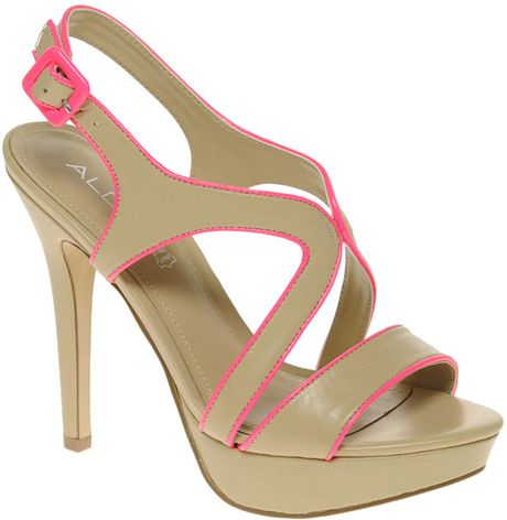 Aldo Aldo Bracker Strappy Neon Contrast Sandals in Green (naturalpink) - Lyst