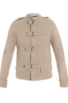 Bottega Veneta Natural Gabardine Jacket - Lyst