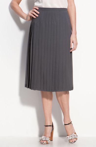 classiques entier pleated chiffon midi skirt in gray