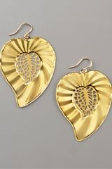 Devon Leigh Leaf Earrings - Lyst