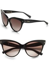 Dior Cateye Sunglasses in Black - Lyst