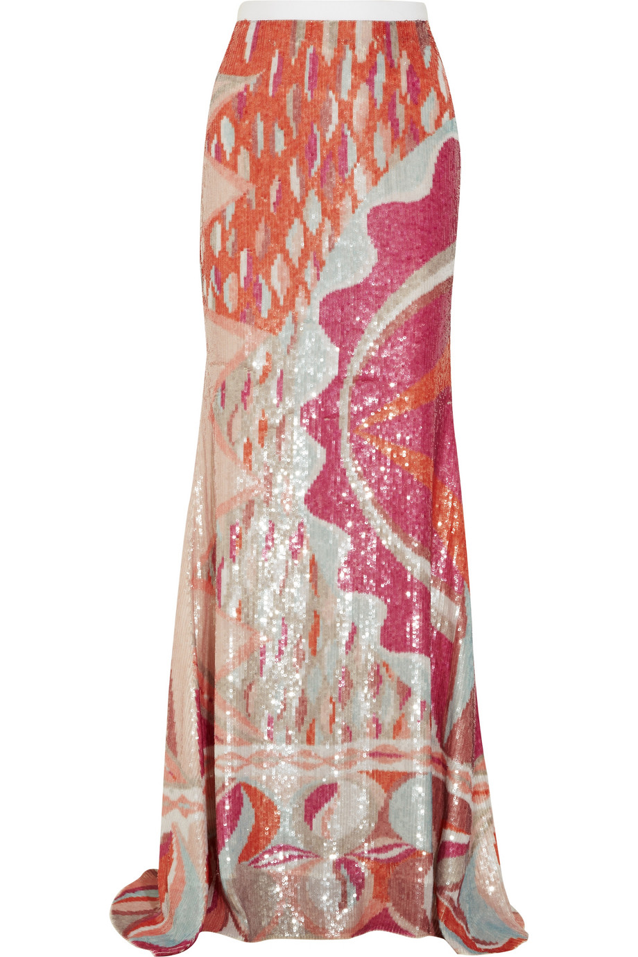 Emilio pucci Sequined Silk Maxi Skirt | Lyst