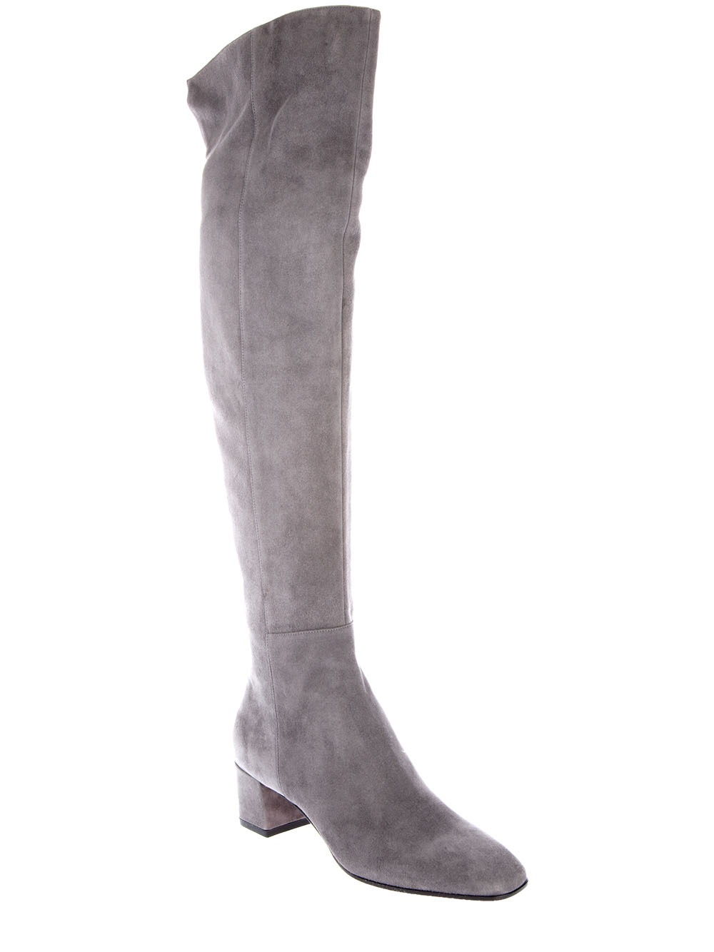 Channel super sexy vibes in these grey thigh high gladiator style boots with lace up feature.