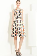 Jason Wu Piana Silk & Wool Jacquard Dress - Lyst