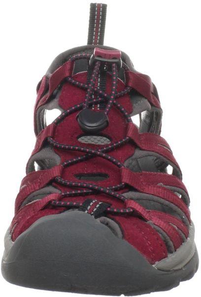Keen Womens Whisper Sandal In Brown Beet Red Gargoyle Lyst