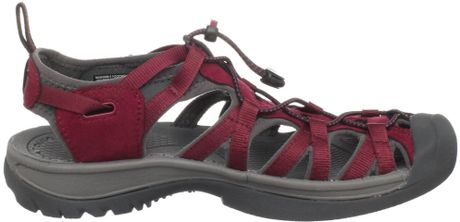 Keen Womens Whisper Sandal In Brown Beet Red Gargoyle Lyst