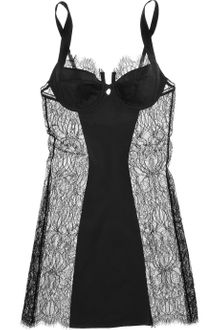 Kiki De Montparnasse By Julia Restoin Roitfeld Charmeuse and Chantilly Lace Chemise - Lyst