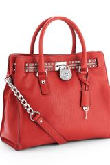 Michael by Michael Kors Large Hamilton Rock N Roll Tote, Red - Lyst