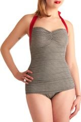 Modcloth Coupe Of Tea One Piece in Gray (black) - Lyst