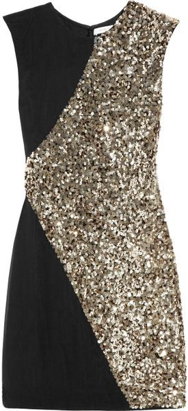 Rachel Gilbert Dexina Sequined Silk-chiffon Mini Dress - Lyst
