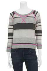 Rebecca Taylor Striped Cashmere Sweater - Lyst