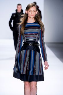 Richard Chai Fall 2012 Striped Knee Length Skirt - Lyst