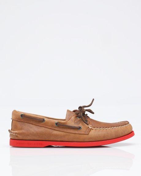 Sperry Top Sider  Eye Neon Boat Shoe