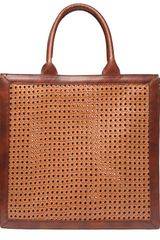 Stella McCartney Pembridge Woven Wicker Tote Bag