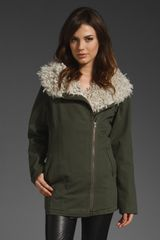 Style Stalker Rebellion Parka in Green (khaki) - Lyst