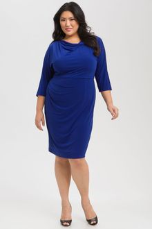 Suzi Chin For Maggy Boutique Twist Waist Jersey Dress - Lyst