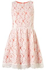 Topshop Sleeveless Lace Dress
