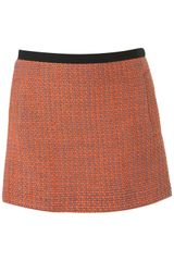 Topshop Premium Coord Fluro Boucle Skirt in Orange (fluro orange) - Lyst