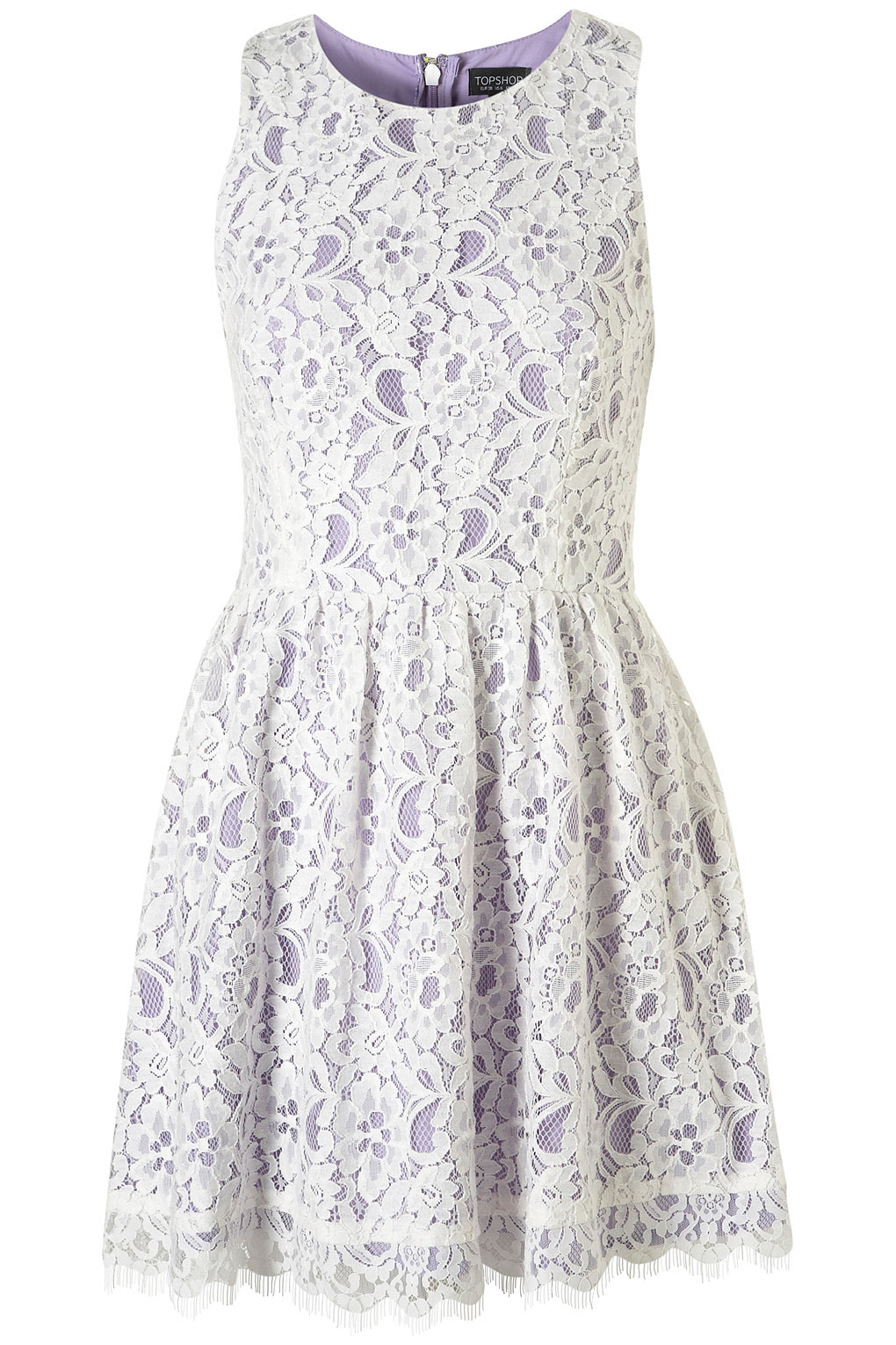 Lyst - Topshop Sleeveless Lace Dress in Purple