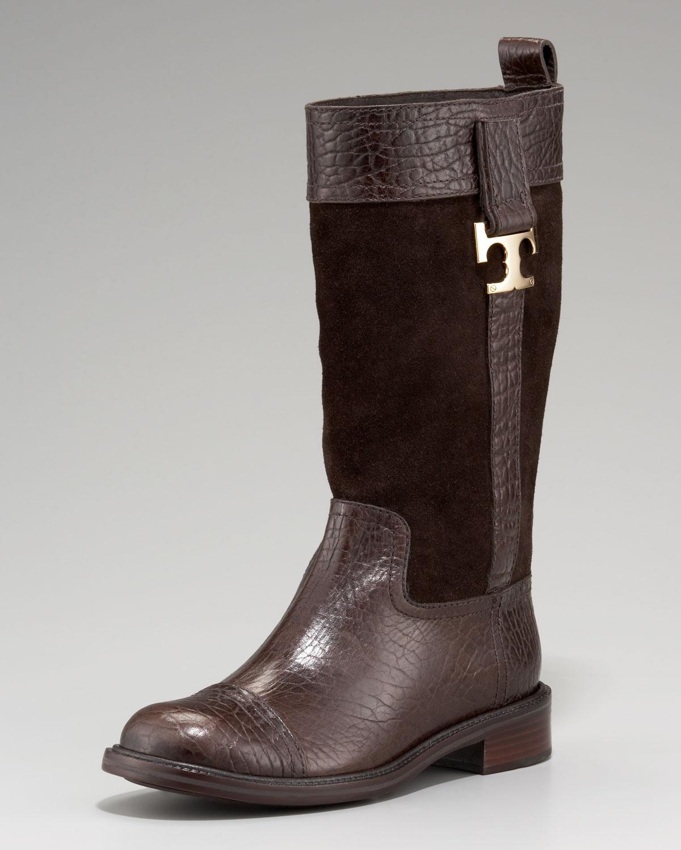 c6a0117dde16 Lyst - Tory Burch Corey Mid-calf Boot in Brown
