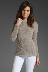 Vince Eyelash Crop Boatneck Sweater - Lyst