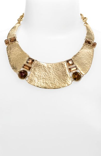 Nordstrom Hammered Metal Collar Necklace in Gold (gold multi) - Lyst