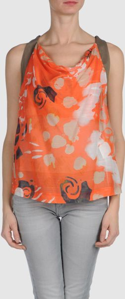 Piazza Sempione Top in Orange (coral) - Lyst
