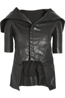 Rick Owens Leather Jacket - Lyst