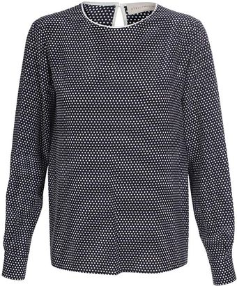 Stella McCartney Silk Polka-dot Top - Lyst