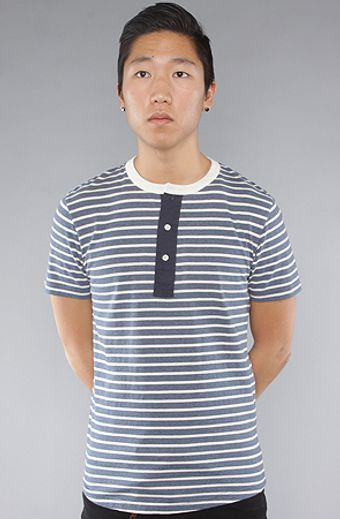 The Scifen Company The Frontline Henley in Navy - Lyst