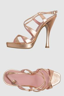 Donna Karan New York Platform Sandals - Lyst