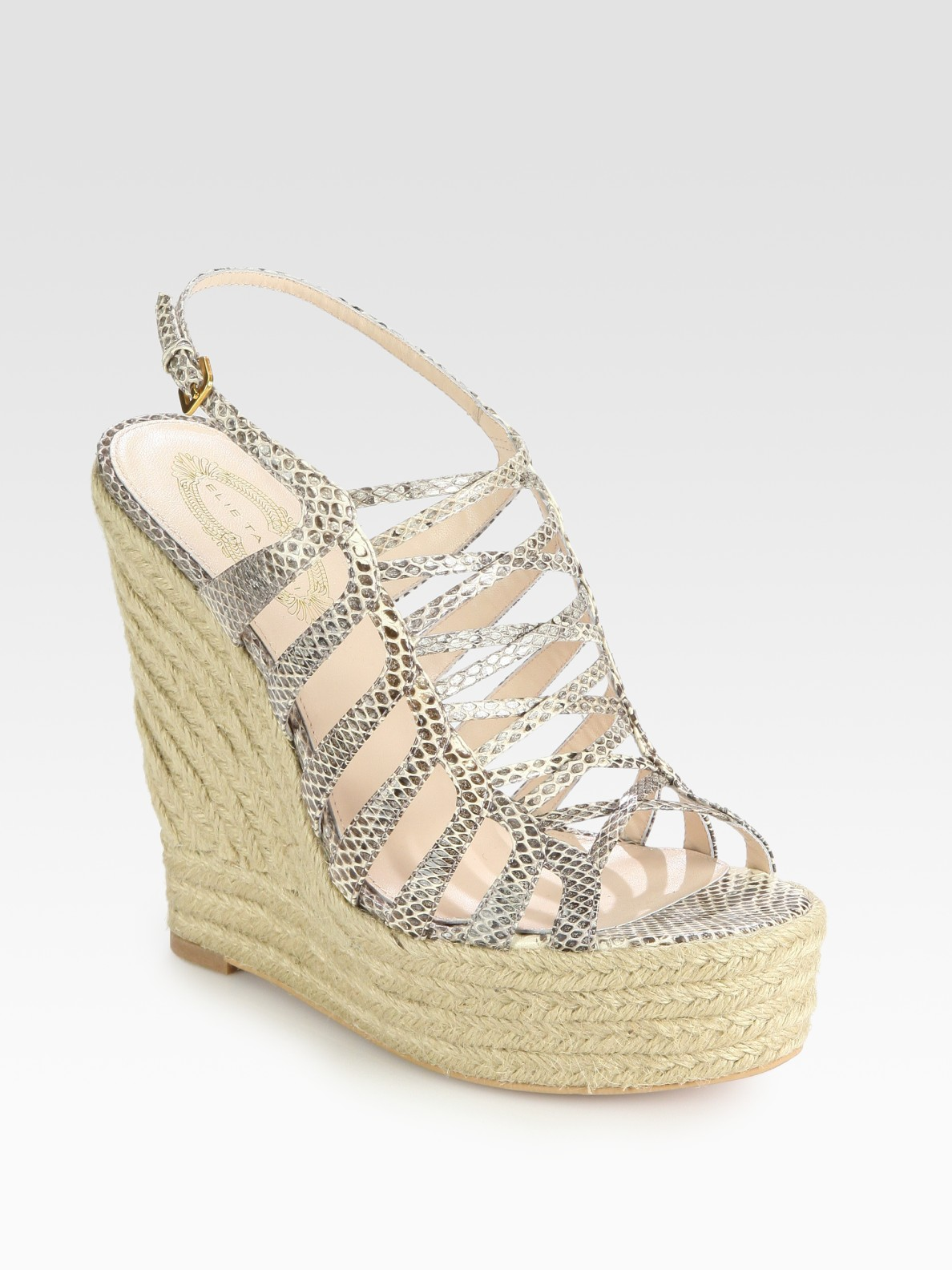 shop for online clearance pay with visa Elie Tahari Leather Caged Wedges largest supplier cheap price t7sooE