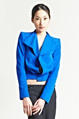 Haider Ackermann Womens Watts Suede Jacket in Blue - Lyst