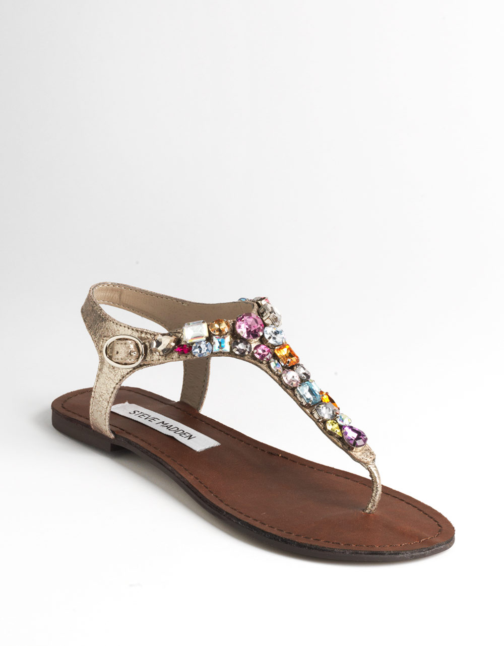 1ef04cc4691 Steve Madden Groom Jeweled Sandals - Lyst