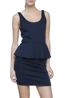 Alice + Olivia Sleeveless Vicky Dress with Peplum - Lyst