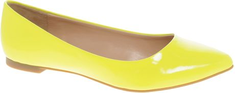 Aldo Aldo Hilser Ballet Flat Shoes in Yellow - Lyst