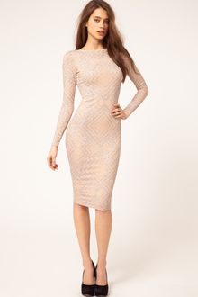 ASOS Collection Asos Midi Dress in Glitter Print - Lyst