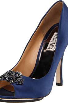 Badgley Mischka Badgley Mischka Womens Susan Open-toe Pump - Lyst