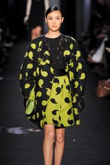 Diane Von Furstenberg Fall 2012 Comma Print Kilt  in Green - Lyst