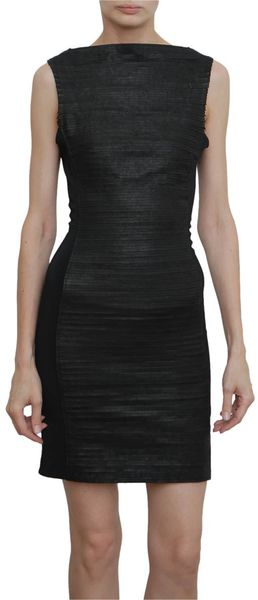 Gareth Pugh Sleeveless Dress with Leather Details in Black - Lyst