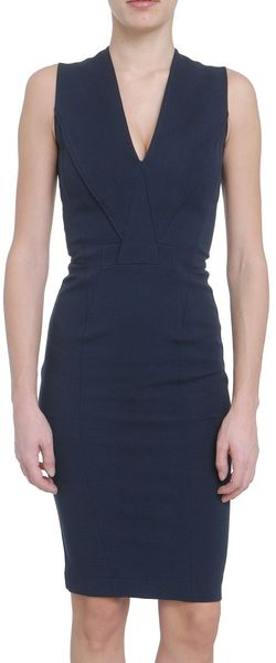 Givenchy Sleeveless Viscose Dress with Deep Neckline in Blue - Lyst