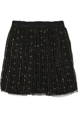 Gryphon Metallic Beaded Mesh Skirt - Lyst