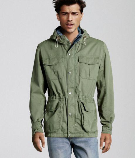 H&m Parka in Green For Men
