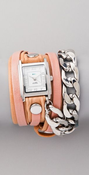 La Mer Collections Malibu Chain Wrap Watch - Lyst