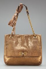Lanvin Embossed Med Happy Bag - Lyst
